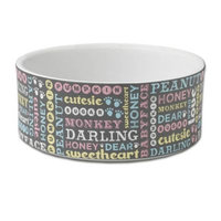 Pet Names 3.5-Cup Cat Bowl in Dark Grey