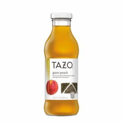 Tazo Iced Tea, Giant Peach, 13.8 oz Glass Bottles, 8 Pack