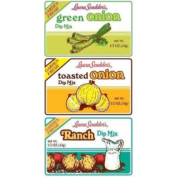 Laura Scudder's BIG 3 Dry Dip Mixes (Pack of 6)