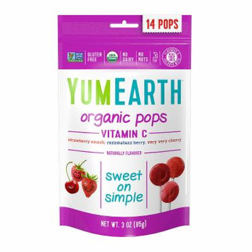 YumEarth Organic Vitamin C Lollipops - 3 oz - 6 Pack