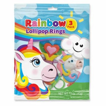 Unicorn and Rainbow Lollipop Rings (3 Count)