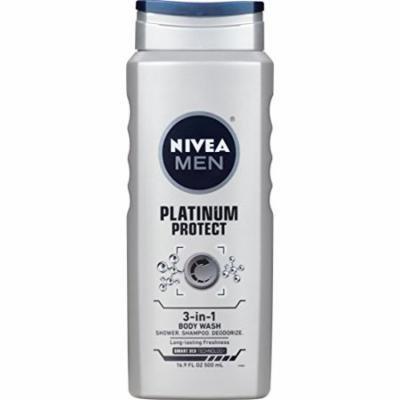 NIVEA Men Platinum Protect 3-in-1 Body Wash 16.9 Fluid Ounce