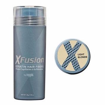 XFusion Genuine Keratin Hair Fibers Economy Size Light Blonde 28g 2pack