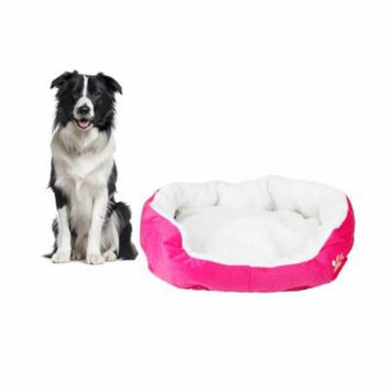 Zimtown Rose Red Round Dog/Cat Bed Cotton Mat, Comfortable Stylish Pet Bedding, Premium Plush Fiber Fill, For Small and Toy Breed Dogs and Cats S