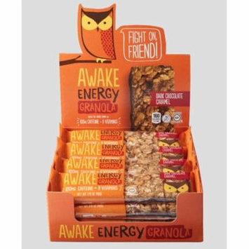 AWAKE Energy Granola Bars, Dark Chocolate Caramel, 1.41 Oz, 16 Ct