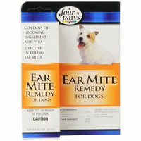 Four Paws Ear Mite Remedy for Dogs .75 oz - Pack of 6