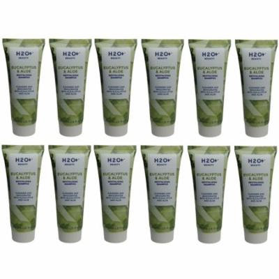 H2O Plus Eucalyptus & Aloe Shampoo lot of 12 each 1.5oz bottles. Total of 18oz
