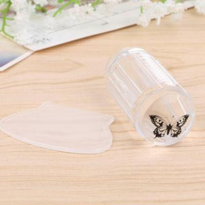 DIY Nail Art Stamping Clear Soft ABS + Silicone Stamper Scraper Plate Set