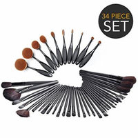 34-Piece Ultimate Hollywood Makeup Brush Set