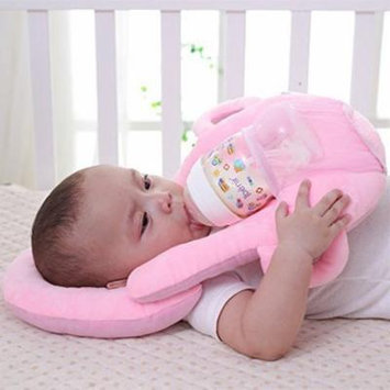 Jeobest 1PC Baby Self Feeding Pillow - Baby Pillow for Feeding - Baby Feeding Pillow - Baby Portable Feeding Pillows Self Feeding Bottle Support Newborn Detachable Feeding Pillow MZ(Pink)