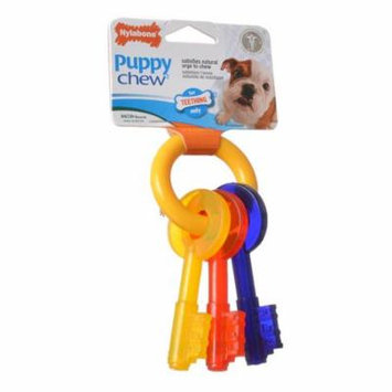 Nylabone Puppy Chew Teething Keys Chew Toy X-Small (For Dogs up to 15 lbs) - Pack of 6