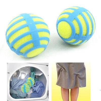 Atb-h-antib2-mo 2 Anti Static Laundry Balls Tumble Dryer Cleaning Clothes Natural ReusableTV