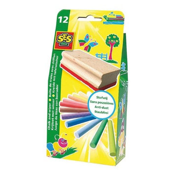 SES Creative 205 Chalk & Eraser Pack - Case of 12