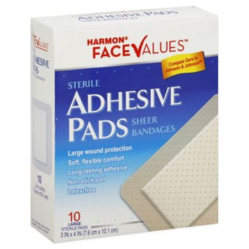 Harmon Face Values: Harmon Face Values Adhesive Pads 3x4 10 Count