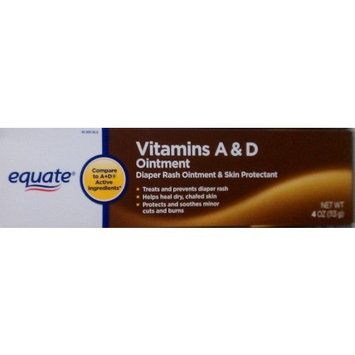 Equate Vitamins A and D Ointment and Skin Protectant 4 oz, Compare to A+D