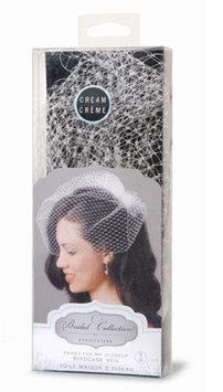 Darice David Tutera Birdcage Veil with Comb - Ivory/Light Cream - 18 inch
