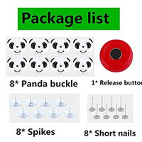Qiling 8 PCS Quilted Slip Buckle Socks Shoes Storage Clip Cute Panda Sleeps Well