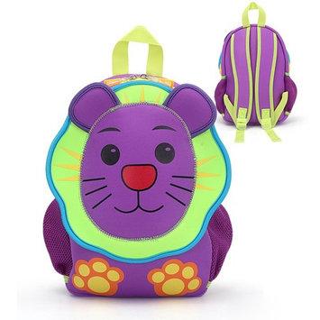 Sunkey Lion Backpack Neoprene Toddler Preschool Animal Backpack Kids Zoo Kindergarten Backpacks for School Toddler Book Bags Boys Bookbags for Girls