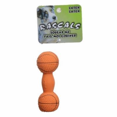 Rascals Latex Basketball Dumbbell Dog Toy 4