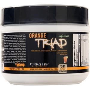 Controlled Labs Orange Triad + Greens Lemon Ice Tea - 30 Servings