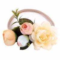 StylesILove Womens Girls Handmade Flower Crown Chic Wreath Elastic Headband (Beige, 2-Pack)