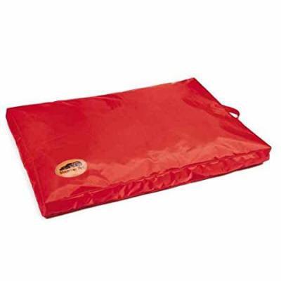 Red Heavy Duty Dog Bed Chew Resistant Indoor Outdoor Tough Soft Nylon Teflon (Medium - 36