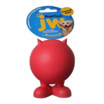 JW Pet Bad Cuz Rubber Squeaker Dog Toy Medium - 4