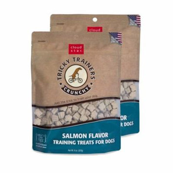 Cloud Star Chewy Tricky Trainers Salmon 8 oz Dog Treats 2 Pack