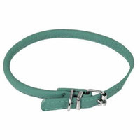 22-25 L x 0.5 W in. Round Leather Collar, Teal