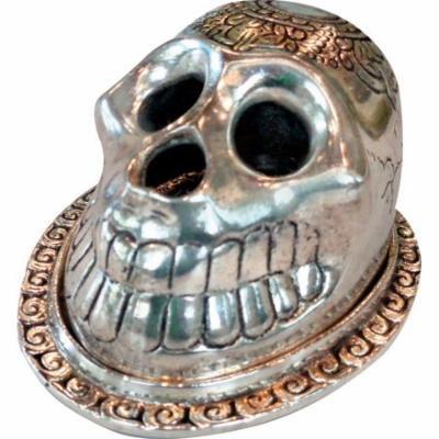 6PC BOX - Skull Incense Burner - Aluminum / 3