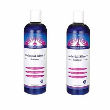 Heritage Store - Colloidal Silver + Shampoo, 12 Ounces (360 mL) - 2 Packs