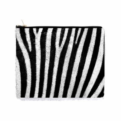 Black and White Zebra Print - Double Sided 6.5