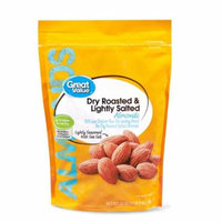 Great Value Almonds, Dry Roasted & Lightly Salted, 25 oz