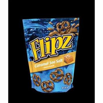 8 PACKS : Flipz Caramel Sea Salt Covered Pretzel, 7. 5 Ounce -- 8 per case.