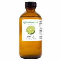 Lime Essential Oil - 8 fl oz (237 ml) Glass Bottle w/ Cap - 100% Pure Essential Oil by GreenHealth