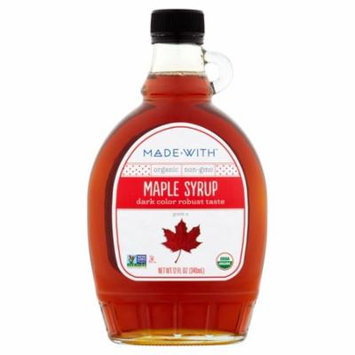 Made With Syrup Maple Grd A Dark Org,12 Fo (Pack Of 12)
