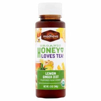 Madhava Honey Honey Lemon Ginger,12 Oz (Pack Of 6)