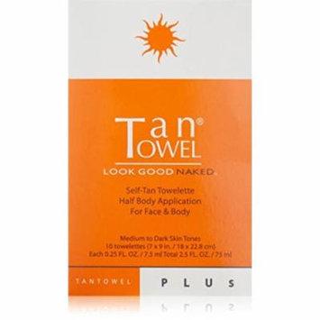 Tan Towel Self Tan Towelette Plus, 10 Count, PACK OF 8