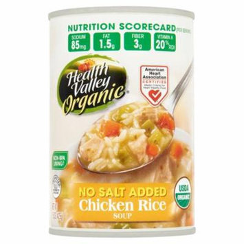 Health Valley Soup Chicken Rice No Salt,15 Oz (Pack Of 12)
