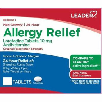 Leader 24hr Allergy Relief Tablets, 10mg, 70ct 096295130751A435