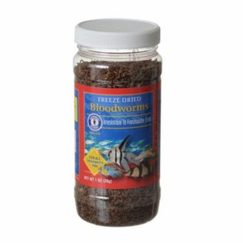 SF Bay Brands Freeze Dried Blood Worms 1 oz - Pack of 2