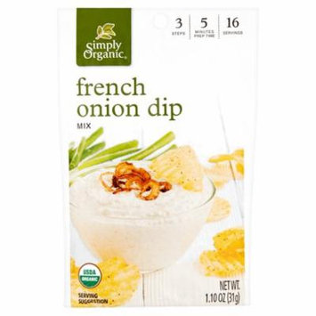 Simply Organic Dip Mix French Onion Org,1.1 Oz (Pack Of 12)
