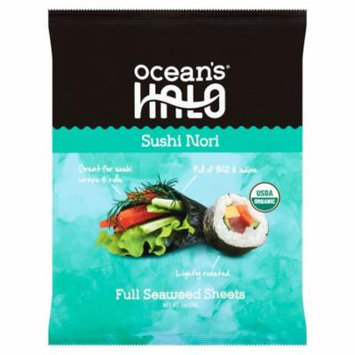 Oceans Halo Sushi Nori Full Sheets,1 Oz (Pack Of 12)