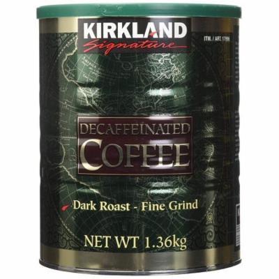 6 Pack Wholesale Lot Kirkland Signature 100% Columbian Decaffeinated Coffee 48oz Ea (18 lbs)