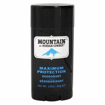 Natural Grooming Deodorant Stick Maximum Protection Mountain - 2.8 oz. by Herban Cowboy (pack of 1)