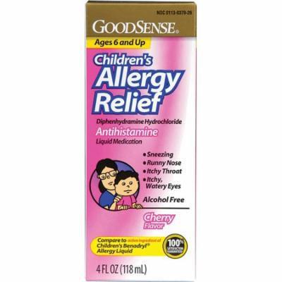 Children's allergy relief liquid, 4 oz., cherry part no. lp13012 (1/ea)