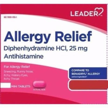 Leader Allergy Relief 25mg Mini Tablets, 24ct
