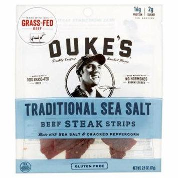Dukes Strips Beef Sea Salt,2.5 Oz (Pack Of 8)