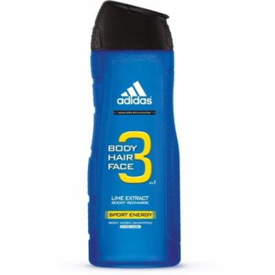 4 Pack - adidas Male Personal Care 3-in-1 Body Wash Sport Energy 16 oz