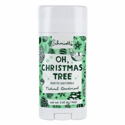 Natural Deodorant Stick Sensitive Skin Formula Oh Christmas Tree - 3.25 oz. by Schmidt's (pack of 3)